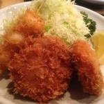 とんかつ しゅん亭 - ランチ・ヒレ1・メンチ1・野菜串 870円