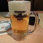 まこちゃん - まずはビールで乾杯♪ H25.1