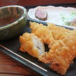 立呑み 活力屋 - ②魚料理(鱧の天ぷら)