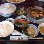 遊山 - 土鍋マーボー豆腐定食