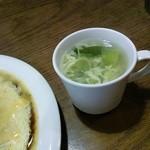 18515769 - 嬉しいスープ付き