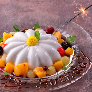 お誕生日、記念日にサプライズデザート無料です。