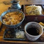 18516586 - ランチセット(1000円)の鴨親子丼セット