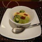 イル テアトリーノ ダ サローネ - 前菜2:蛸とクレーマ ディ アスパラジ(2013.4)