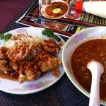 18520813 - タンタン麺とザンギの定食