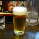 らーめん処 萬佑 - 生ビール480円