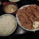うな太郎 - 【再訪多数】生姜焼き定食肉ダブル