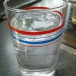 お好み焼マウントクック - 麦焼酎の水割り
