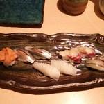 みやた - 再訪・お寿司お任せ ノドグロの炙りを入れてもらいました。