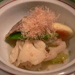 割烹 一献 - 夏野菜と新秋刀魚