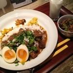 Curry まはから - 辛口ビーフカリー+カレー煮たまご
