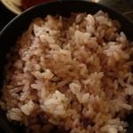 東大和市役所 食堂 - 栄養ある雑穀米