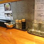 麺屋 剣 - カスターセットはシンプル