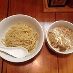 味噌麺 高樋兄弟 - 味噌つけめん中盛り(750円)