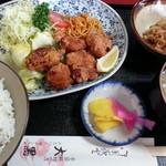 大黒 - 唐揚定食700円