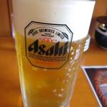 筑豊ラーメン山小屋 - 昼からビール!(笑)