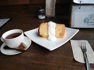 cafe Shizuku - シフォンケーキセット♪