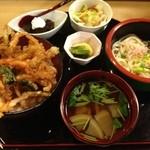 元禄鮨 - 白海老のかき揚げ丼(ランチ)