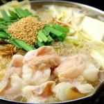 味のれん - 国産和牛もつの美味しさをじっくり味わえます。ファンの多い代表的なもつ鍋です。