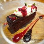 ポアジェ - チョコとラズベリーのケーキ