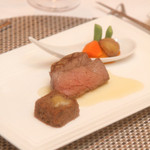 18557972 - 国産牛フィレ肉と和風煮込み2種類の味わい                       季節の野菜の炊き合わせ