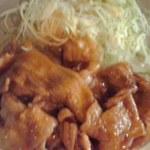 18560658 - 豚生姜焼きのアップ