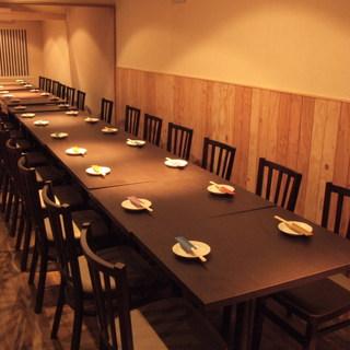 2階席は最大45名様まで貸切可能です。
