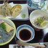 新富鮨 - 料理写真:日立の地魚御膳 (久慈浜生しらす丼、地魚天ぷら、地魚南蛮漬け、茶碗蒸し、デザート付)