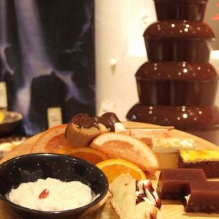 ディナー限定「チョコレートファウンテン」。お子様へのご褒美に