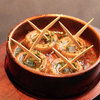 SPAIN BAR P - 料理写真:本場マドリッドの味を再現!マッシュルームの陶板焼き