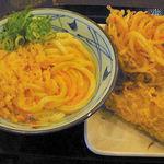 丸亀製麺 - 釜玉+とり天+かき揚げ