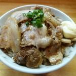 とんこつらーめん 黒竜 - チャーシュー丼  380円