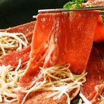 牛たん炭火焼専門店 極 - 【当店名物】なが~い牛タンねぎしゃぶ焼き!大人気ヒット商品「札幌初!」となるこの牛タンの提供の仕方に感動して下さい。最高の食感で味わえます。