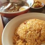 一龍 - 台湾炒飯と醤油ラーメンセット(๑´ڡ`๑) 炒飯の量ヤバし(๑¯◡¯๑)