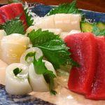 積丹浜料理 第八 太洋丸 - 秋刀魚刺し、秋鮭、生牡蠣