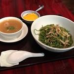 龍口酒家 - 2013年4月26日 1回目 里麺とスッポン入り八宝湯のセット 1300円