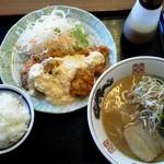 スミちゃんラーメン - チキン南蛮ランチセット980円
