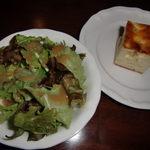 18591456 - セットのサラダとパン♪