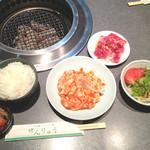 焼肉せんりゅう - ホルモン、ハーフカルビ