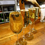 鯖寅果実酒商店 - こぼれスパークリングワイン500円 まさに擦り切れ!