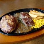 ステーキ。山 - ハンバーグ・カットステーキランチ