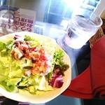 Restaurant Wokini - ランチのサラダ