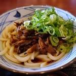 丸亀製麺 - 牛肉しぐれぶっかけ(大)