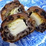 18598727 - カンパーニュ・くるみカレンツクリームチーズ カット