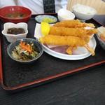 海産物 えんがん - エビフライ定食1,000円