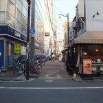 タブチ - JR中野駅からすぐ近くです。逆光になるため駅とは逆方向からの撮影です。
