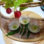 銀杏庵 - 梅酒のゼリー