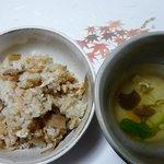 銀杏庵 - 松茸ご飯  湯葉のお吸い物