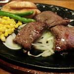 ビッグ テキサス - レディースステーキランチ・USカットステーキ(デザート&ドリンクバーまでつくセットで950円)