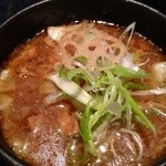 麺処 蓮海 - つけ汁アップ